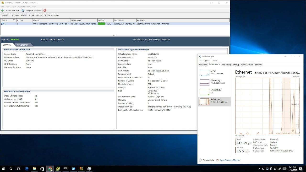 VMware vCenter Converter Standalone 6 1 1 works with ESXi 6 5, virtualizing  Windows PCs/VMs for free