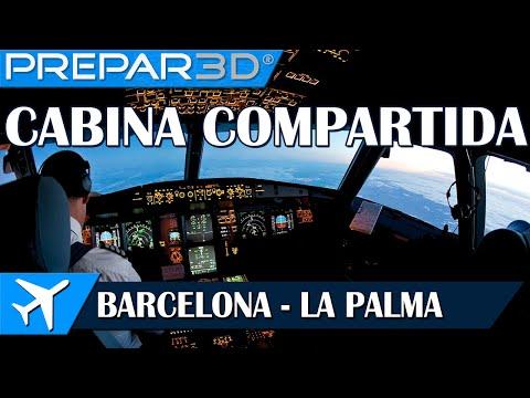 [P3D] AS A320 | Barcelona - La Palma | Cabina compartida #6 | IVAO
