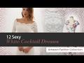 12 Sexy White Cocktail Dresses Amazon Fashion Collection