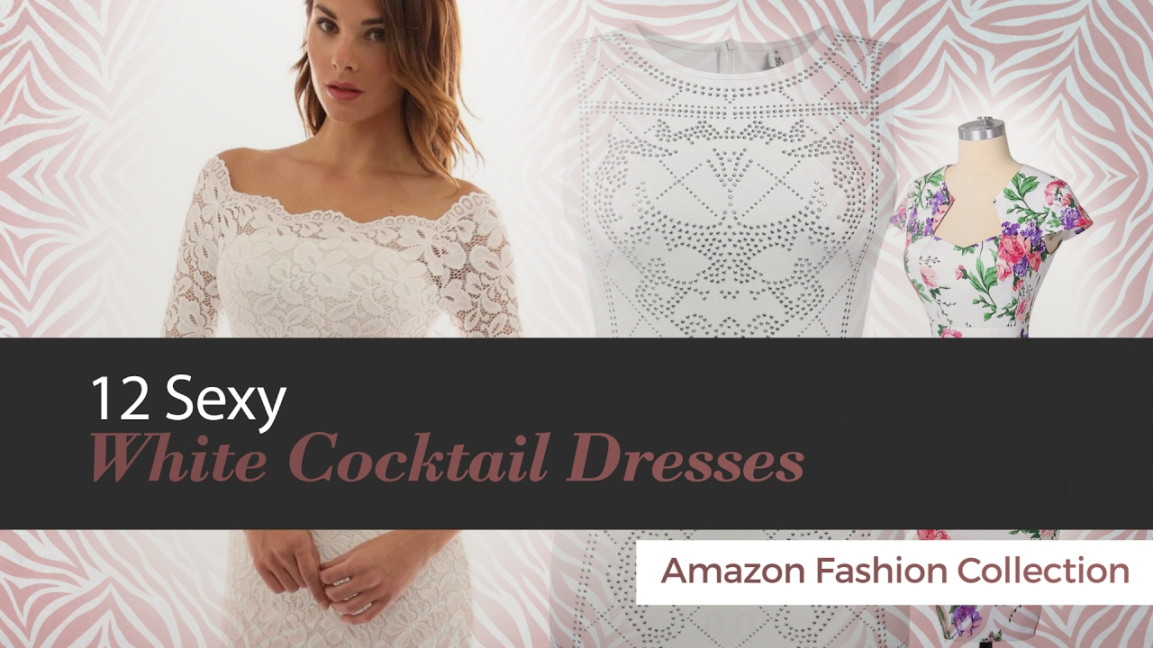 f544c73d4f5b 12 Sexy White Cocktail Dresses Amazon Fashion Collection - YouTube