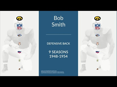 Bob Smith: Football Defensive Back,  Halfback, and Punter