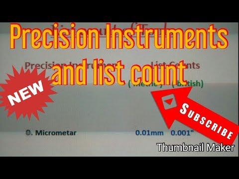 Precision Measuring tools,Precision Instruments, list count,