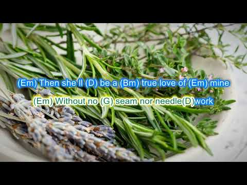 Scarborough Fair by Simon and Garfunkel play along with scrolling guitar chords and lyrics