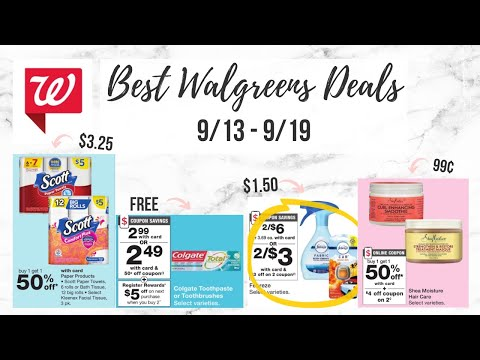 BEST WALGREENS DEALS (9/13-9/19) FREE TOOTHPASTE AND CHEAP PAPER PRODUCTS!