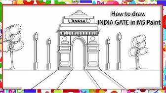 How to draw INDIA GATE in MS Paint