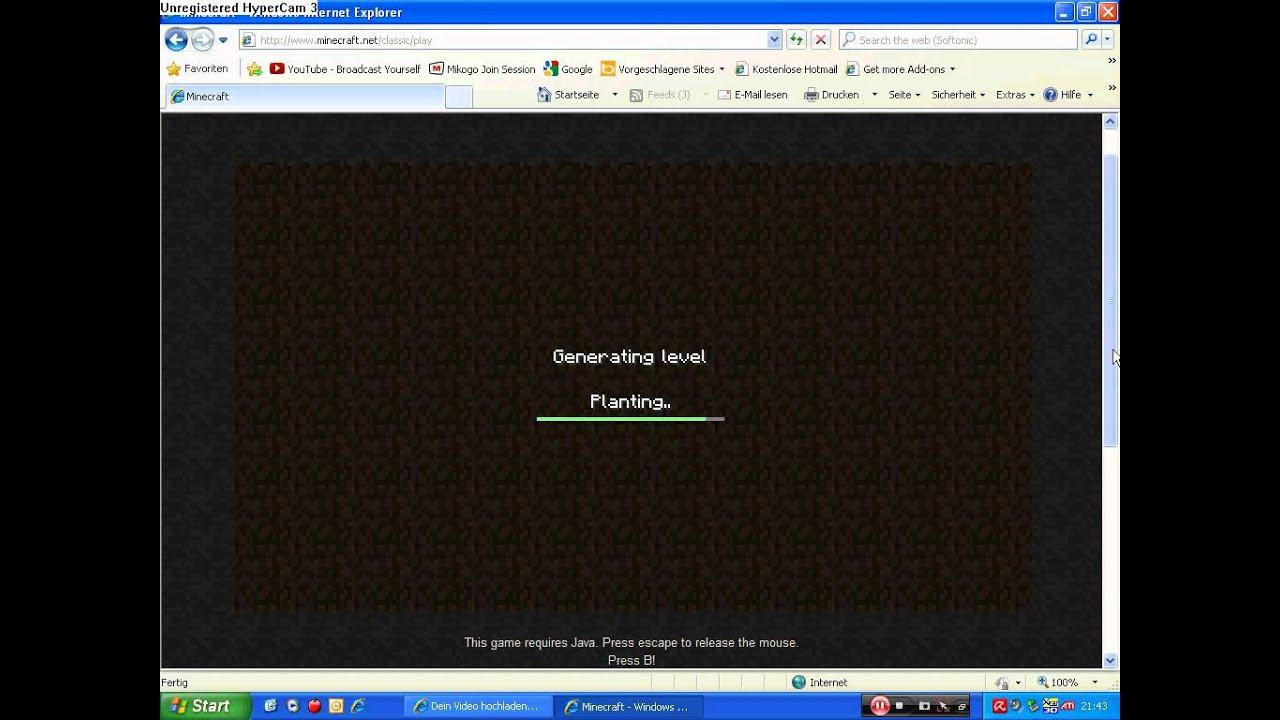 Minecraft Ohne Anmelden Und Ohne Download Spielen YouTube - Minecraft kostenlos spielen ohne anmeldung und download deutsch