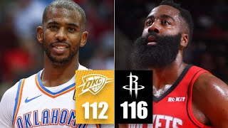Russell Westbrook & James Harden spoil Chris Paul's return to Houston | 2019-20 NBA Highlights