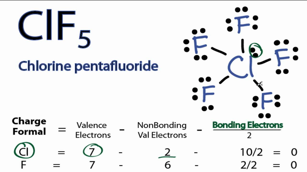 Clf5 Lewis Structure  How To Draw The Lewis Structure For Clf5 (chlorine  Pentafluoride)