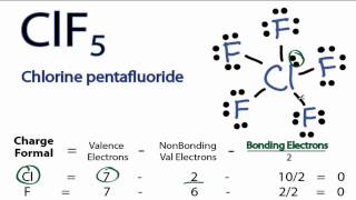 ClF5 Lewis Structure - How to Draw the Lewis Structure for ClF5 (Chlorine Pentafluoride)