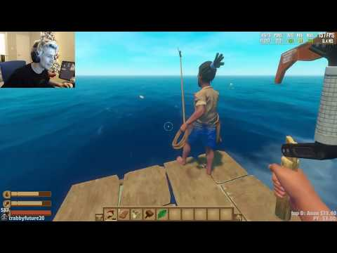 Xqcow Plays Raft On Hard Difficulty