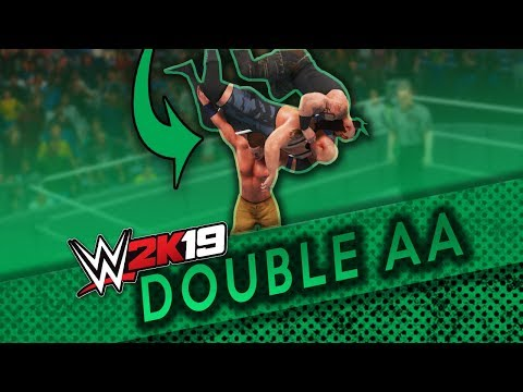 How to do double aa in wwe 2k19