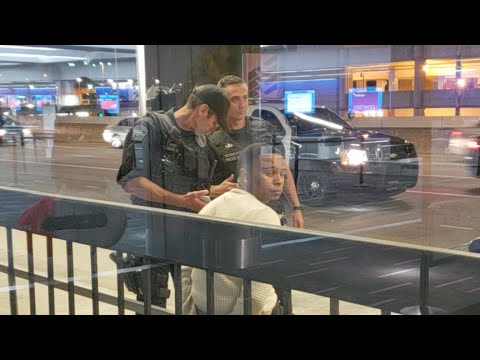 Lax airport police on aalleged kidnapping at Los Angeles International Airport