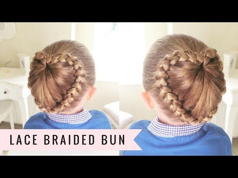 lace braided bun sweethearts