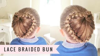 Lace Braided Bun by SweetHearts Hair Design