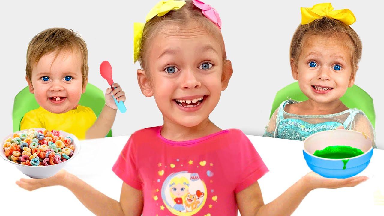 Майя играет в няню - Детская песня от Майи и Маши