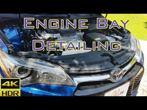 Engine bay cleaning (TOYOTA Camry SE 2017)