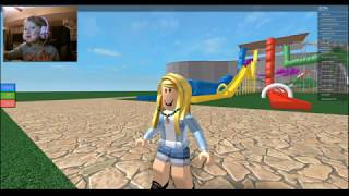 LYC_Plays... ROBLOX!!! Water Park.... with Dad.