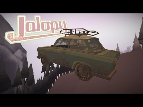 DRIVING OFF OF THE MAP, Breaking Down, Barely Making it to Town - Jalopy Gameplay Highlights Ep 3