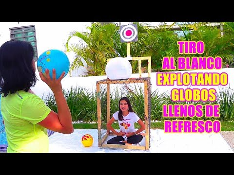 ExPLOTANDO GLOBOS Llenos de REFRESCO   AnaNana Toys