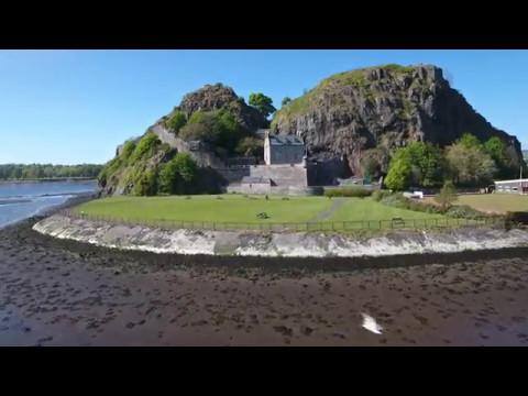 Dumbarton Castle - Phantom 4 drone footage