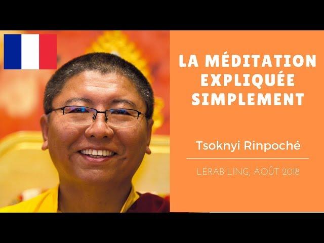 Tsoknyi Rinpoché ~ La méditation expliquée simplement