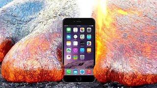 iPhone on HOT LĄVA Test