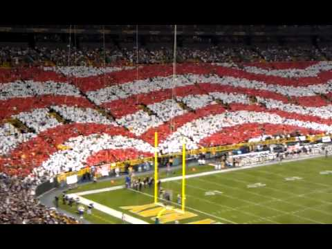 Packers Saints Nfl American Flag September 8th 2011