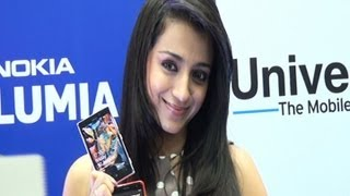 Trisha at Universal Smart Phone Launch - BW