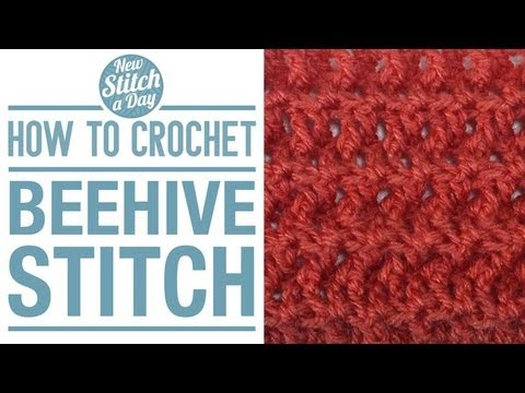 How To Crochet The Beehive Stitch Youtube
