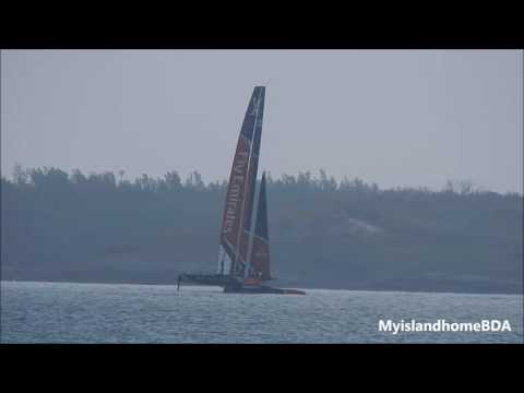 A quiet day in the Great Sound 5.1.17 Emirates Team New Zealand