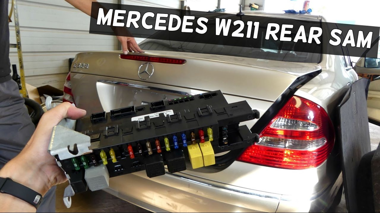 mercedes rear sam module removal replacement w211 youtube  2000 mercedes s430 fuse box location
