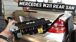 Video MERCEDES REAR SAM MODULE REMOVAL REPLACEMENT W211 download MP3, 3GP, MP4, WEBM, AVI, FLV Oktober 2018