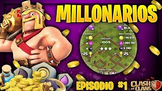 "JUGADORES MILLONARIOS DE CLASH OF CLANS ""impresionante"" episodio #1 CLASH OF CLANS guillenlp28"