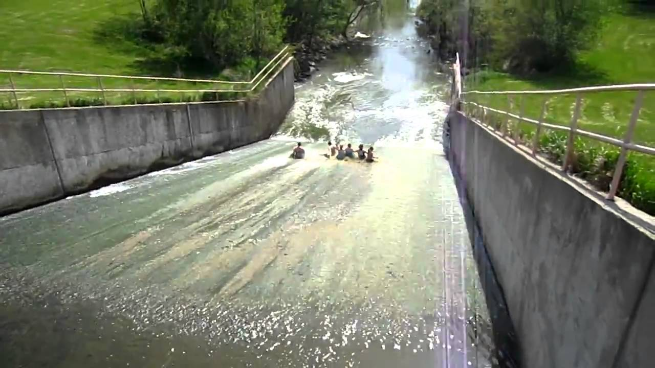 Make A Water Feature Sliding Down The Spring Lake Spillway Macomb Illinois