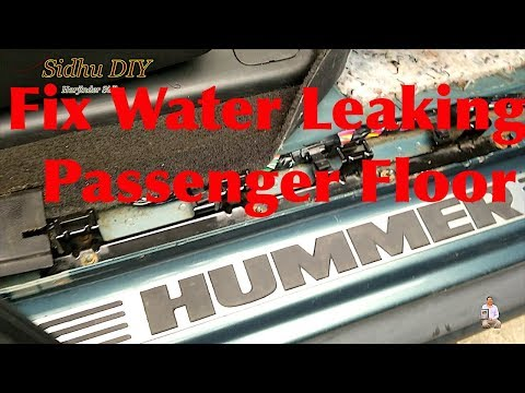 How To Fix Water Leaking on Passenger Side Door on HUMMER | HUMMER H2 Leaks in the Rain