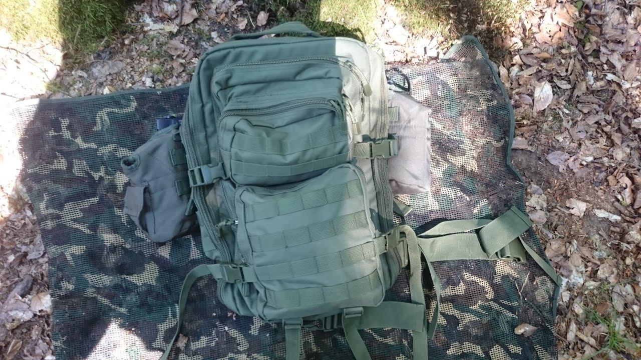 BRANDIT US COOPER LASERCUT MEDIUM RUCKSACK SCHWARZ MILITARY OUTDOOR BW ARMY TREK Militär Rucksack NATO-Shop für Sammler