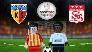 Kayserispor Sivasspor Maç Özeti 1-1 11.02.2018  (LEGO SÜPER LİG MAÇ ÖZETLERİ)/ Lego Football Goals
