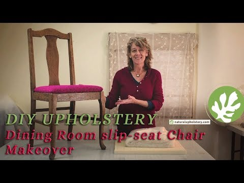 Dining Room Slip-Seat Chair Makeover - DIY Tutorial with FREE Plans