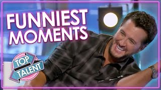 FUNNIEST Auditions and Moments on American Idol 2018 | Top Talent