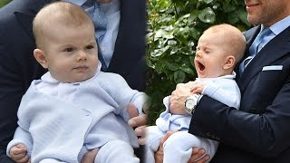 Prince Oscar steals the show at Princess Victoria of Sweden's 39th birthday