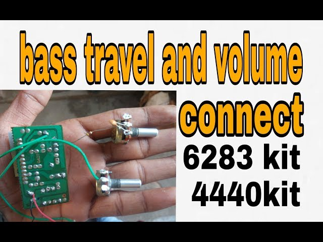 bass treble and volume controller audio amplifier using 6283ic/4440ic kit ?(100% working )