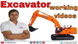 Excavator Working Videos   Excavators At Work   Caterpillar Excavators Working