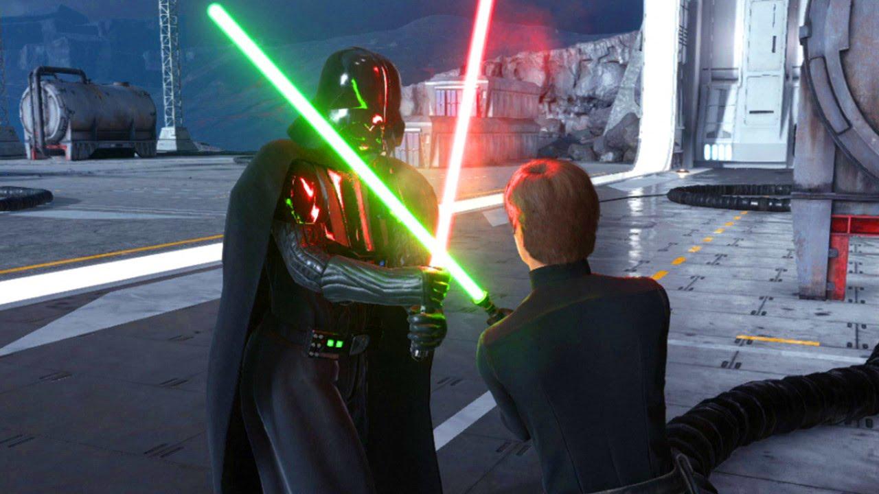 star wars battlefront darth vader  luke