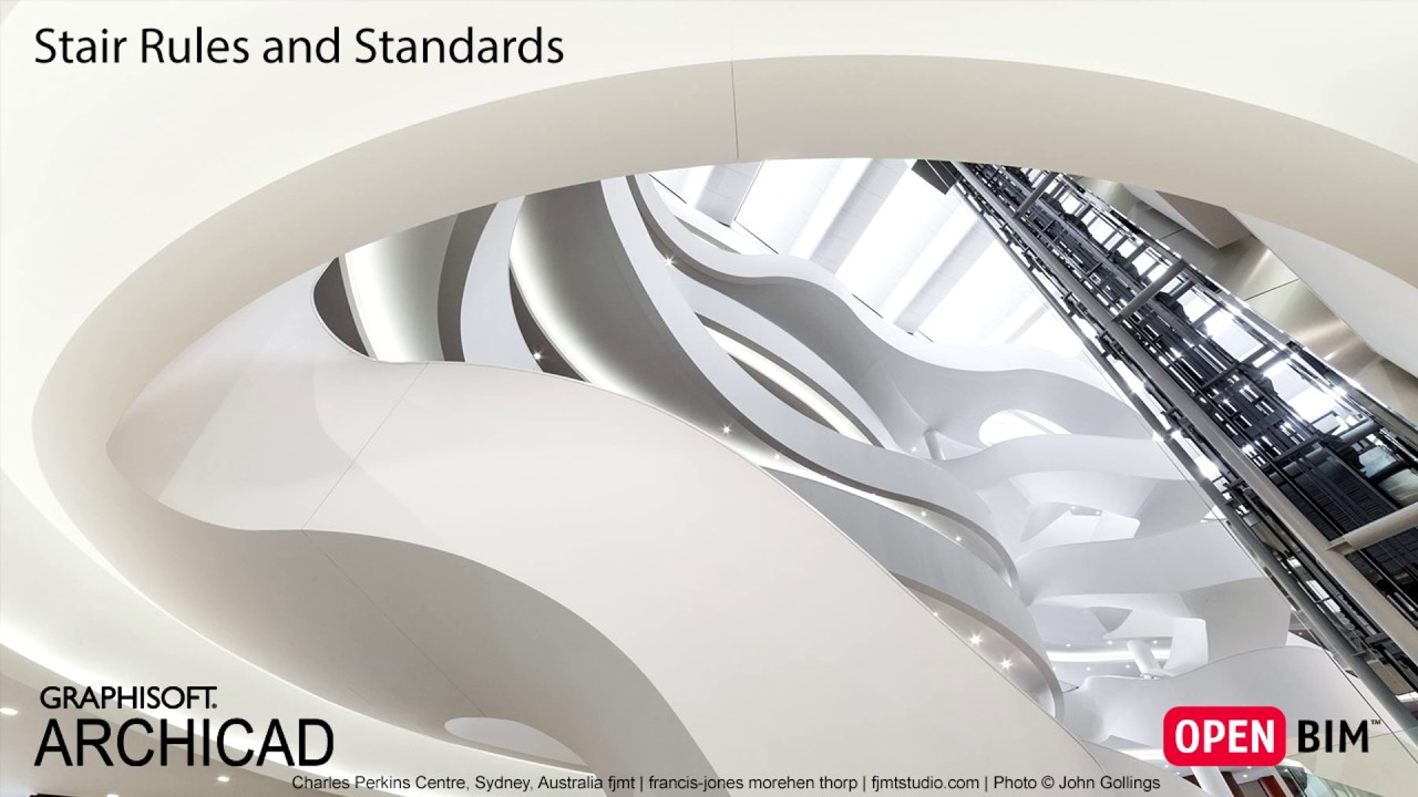 ARCHICAD 21 - Stair Rules and Standards