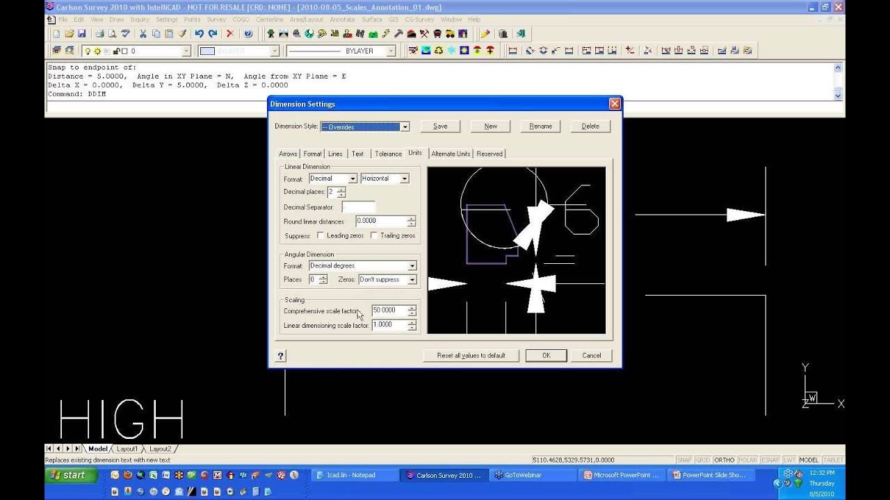 Drawing Scales and Annotation in Carlson Software