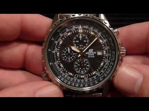 Watch Aviatorpilot Casio Edifice 1avef Ef Style Youtube 527l DH9YW2EI
