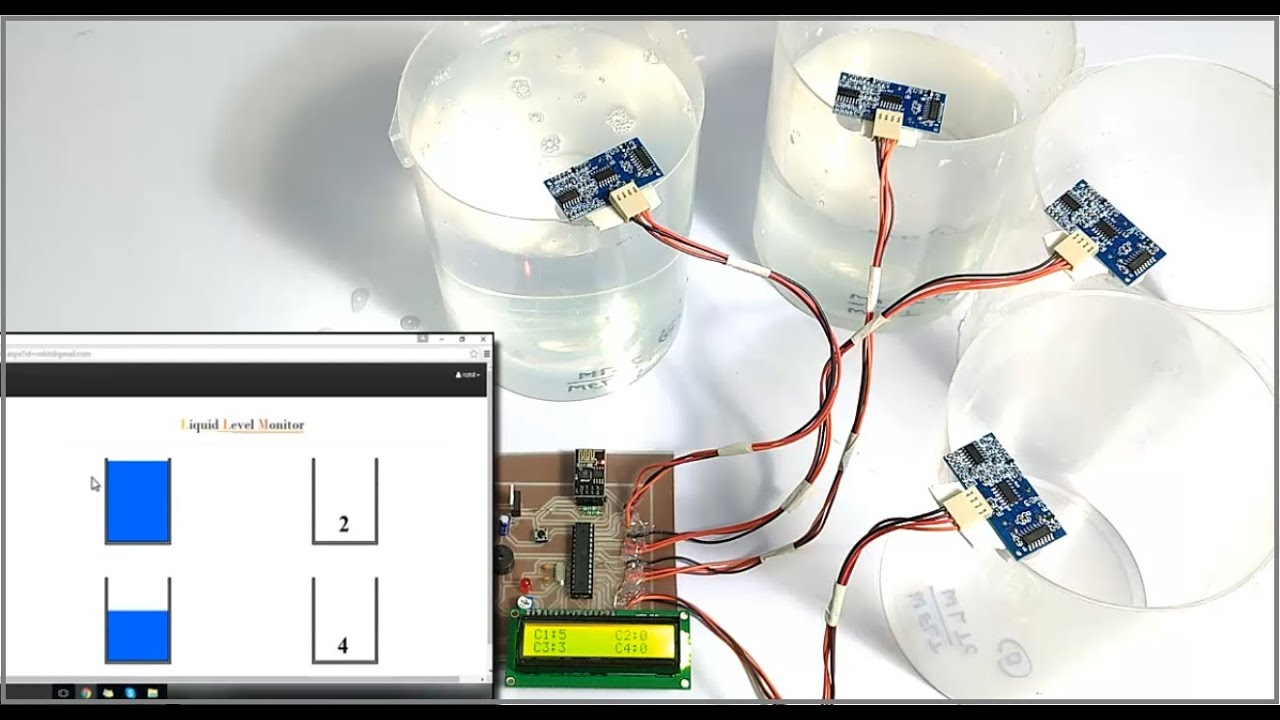 Water Level Monitoring System : Iot liquid level monitoring system youtube