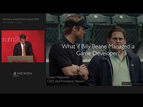 """【日本語字幕入り】""""Can Investors Moneyball the Game Industry? """" by Nexon CEO Owen Mahoney"""