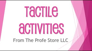 Spanish Tactile Activity Preview