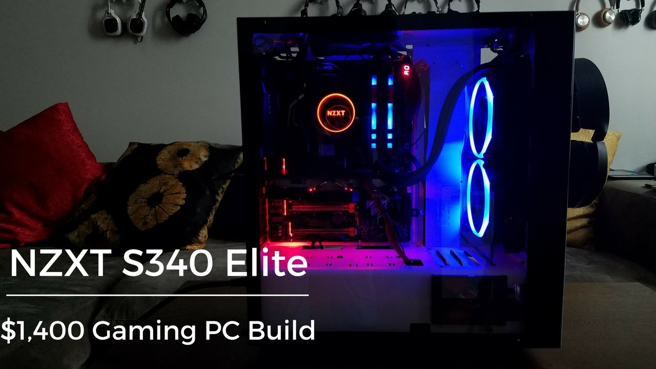Nzxt S340 Elite Pc Build Youtube Inside A Computer Tower Parts For Pinterest